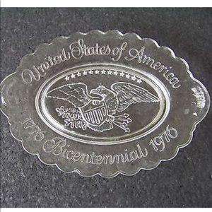 🇺🇸USA 1976 Bicentennial Glass Tray🇺🇸